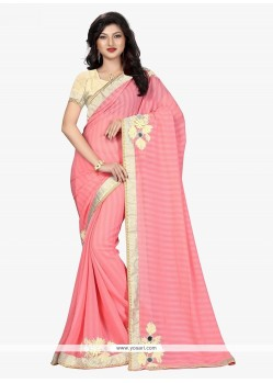 Desirable Patch Border Work Classic Saree