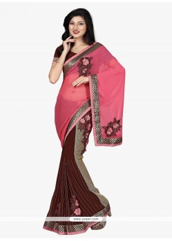 Impeccable Embroidered Work Georgette Designer Traditional Sarees