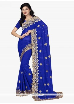 Sightly Blue Classic Saree