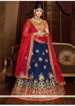 Masterly Silk Embroidered Work A Line Lehenga Choli