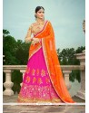 Remarkable Silk Patch Border Work A Line Lehenga Choli