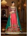 Incredible Silk Rose Pink A Line Lehenga Choli