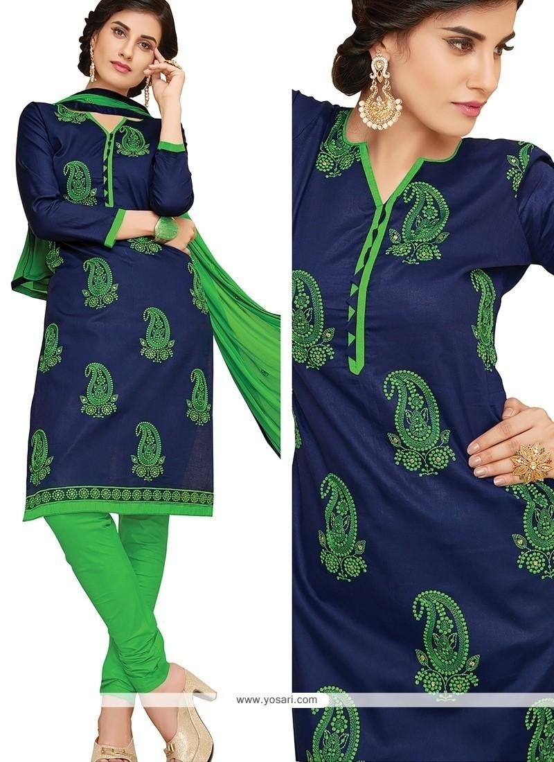 Hypnotizing Cotton Churidar Designer Suit