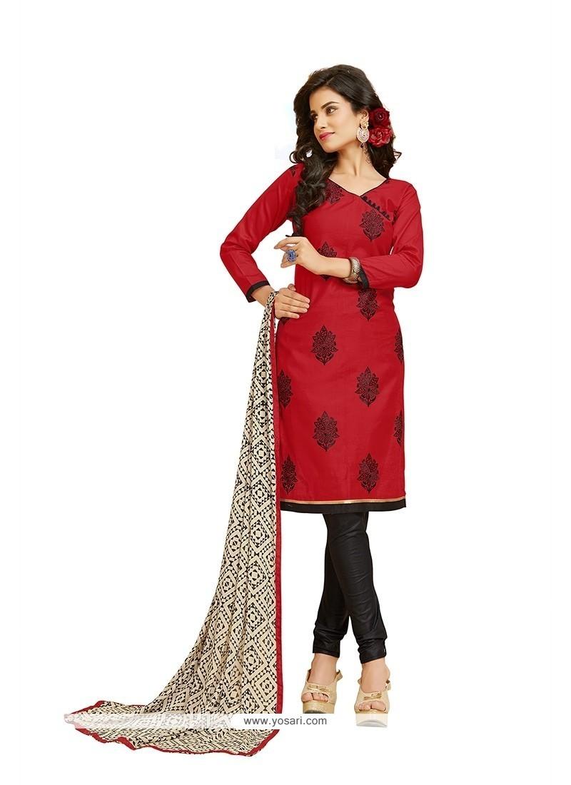 Blissful Embroidered Work Churidar Designer Suit