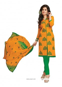 Intriguing Cotton Churidar Designer Suit