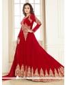 Breathtaking Red Anarkali Salwar Kameez