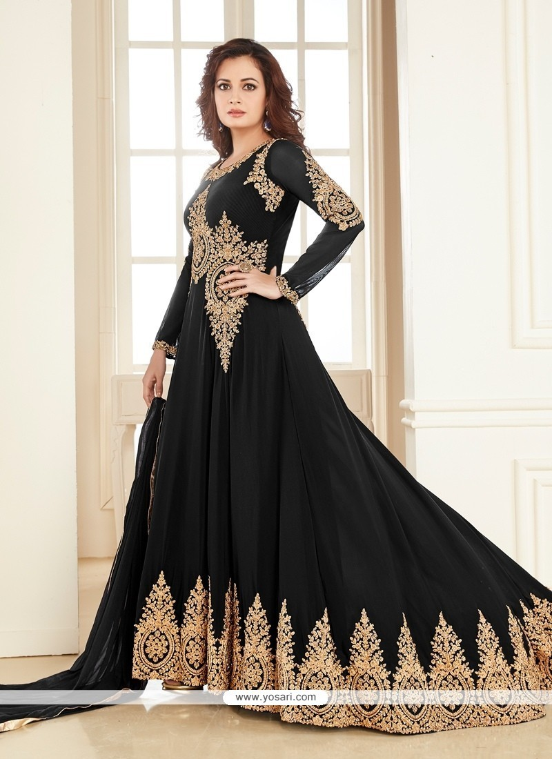 Intricate Net Anarkali Salwar Kameez