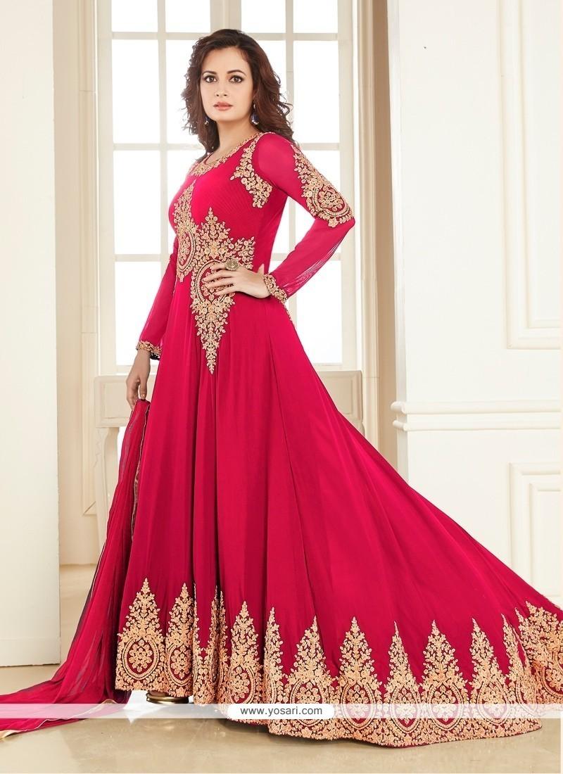 Ideal Georgette Anarkali Salwar Kameez