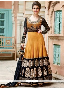 Markable Mustard Georgette Floor Lenght Anarkali Suit