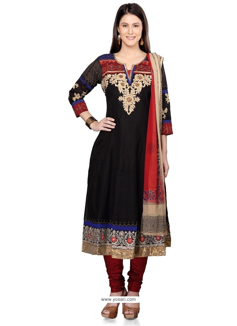 Prodigious Cotton Embroidered Work Readymade Suit