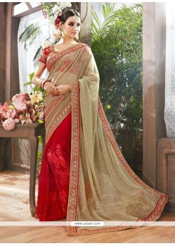 Magnificent Net Patch Border Work Classic Designer Saree