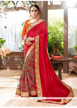 Best Patch Border Work Classic Designer Saree