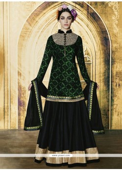 Gripping Embroidered Work Black A Line Lehenga Choli