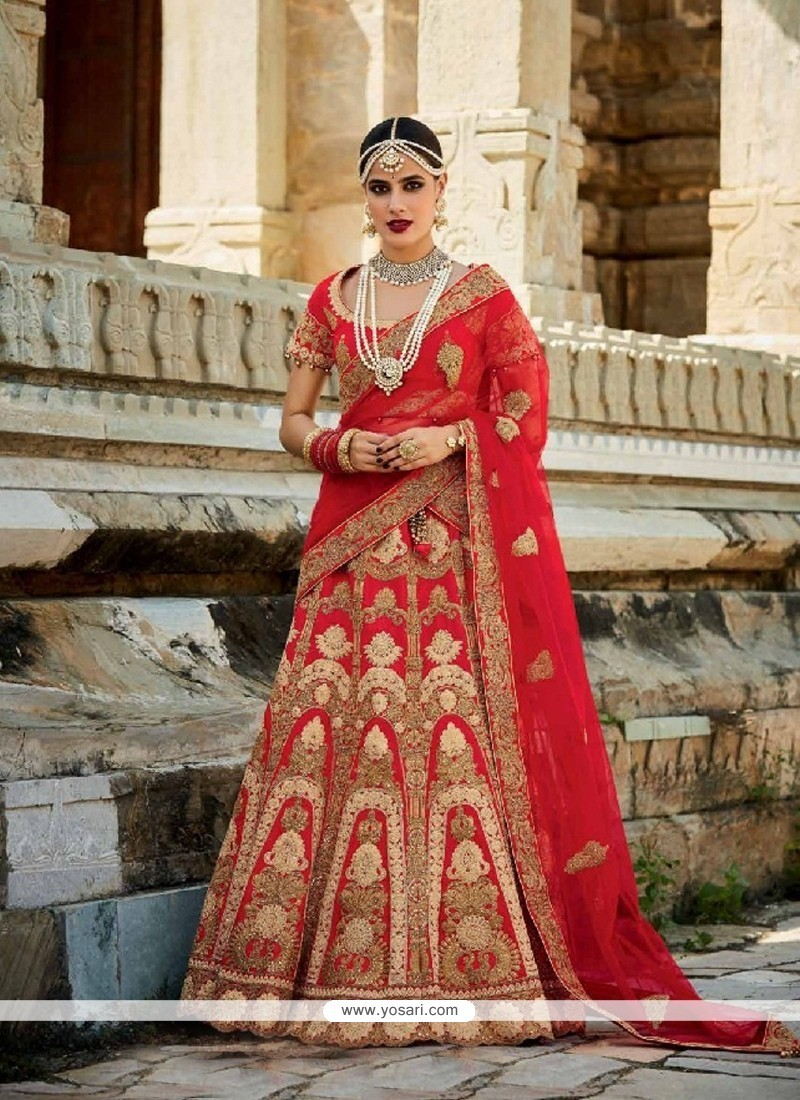 Astounding Art Silk Embroidered Work A Line Lehenga Choli