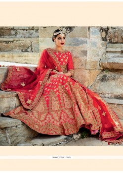 Imperial Red A Line Lehenga Choli