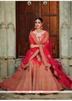 Alluring Embroidered Work A Line Lehenga Choli