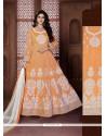 Adorning Resham Work Banglori Silk Anarkali Salwar Kameez