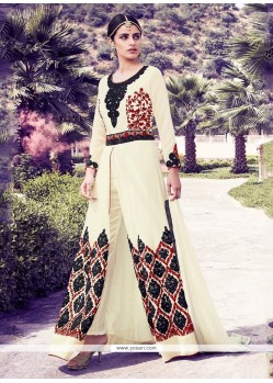 Radiant Georgette Resham Work Designer Suit