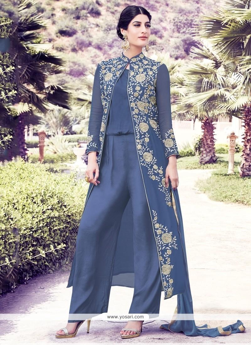 Genius Georgette Designer Suit