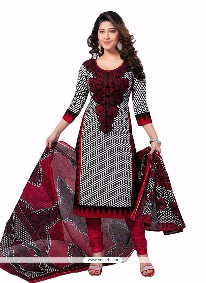 Especial Cotton Grey Churidar Designer Suit