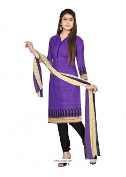 Gorgonize Purple Cotton Churidar Designer Suit