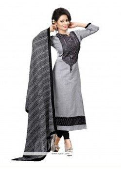 Savory Grey Churidar Designer Suit