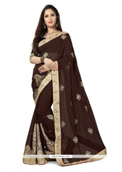 Peppy Brown Classic Saree