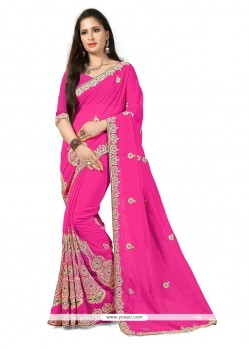 Amusing Georgette Trendy Saree