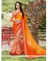 Titillating Georgette Multi Colour Printed Saree