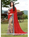 Astounding Print Work Multi Colour Georgette Printed Saree