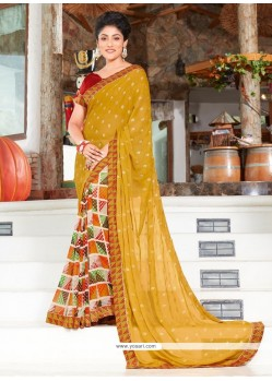Gilded Multi Colour Printed Saree