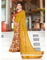 Gilded Multi Colour Printed Saree