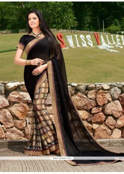 Voguish Georgette Print Work Printed Saree