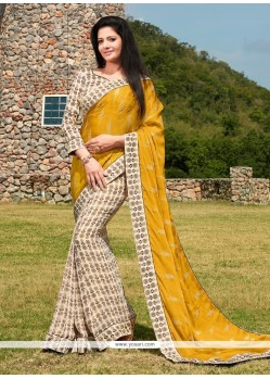 Superb Georgette Print Work Printed Saree