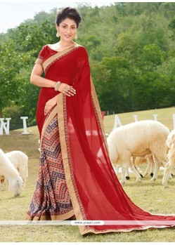 Miraculous Georgette Multi Colour Printed Saree