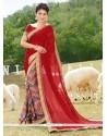 Miraculous Georgette Multi Colour Printed Saree