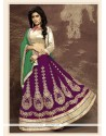 Glorious Faux Chiffon Wine A Line Lehenga Choli