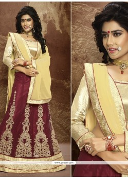 Sterling Embroidered Work Faux Chiffon A Line Lehenga Choli