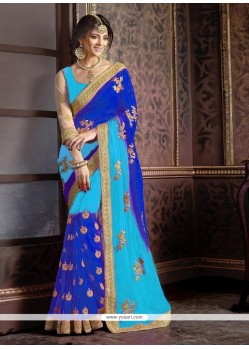 Magnificent Blue Traditional Saree