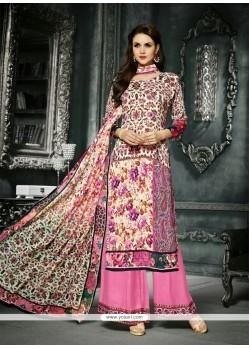 Zesty Pink Designer Palazzo Salwar Kameez