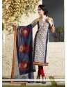 Dainty Lace Work Grey Readymade Suit