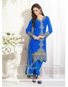Blue Georgette Churidar Suit