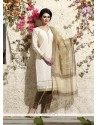 Monumental Lace Work Chanderi Cotton Readymade Suit