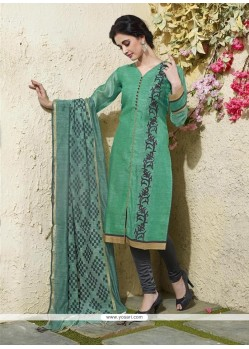 Suave Chanderi Cotton Readymade Suit