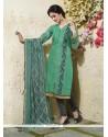 Suave Chanderi Cotton Readymade Suit
