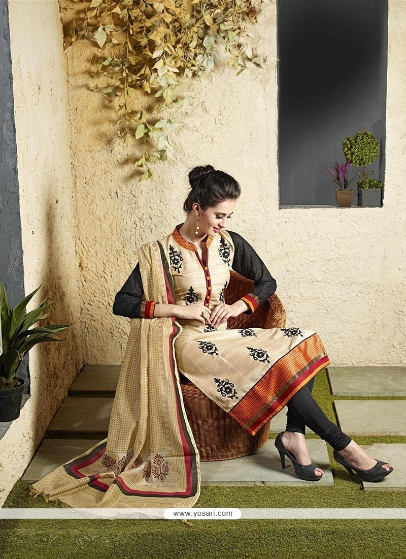 Heavenly Lace Work Readymade Suit