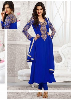 Kriti Sanon Blue Georgette Churidar Suit