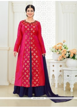 Ayesha Takia Embroidered Work Red Designer Suit