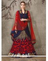 Sophisticated Georgette Patch Border Work A Line Lehenga Choli