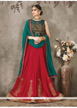 Paramount Silk Embroidered Work A Line Lehenga Choli